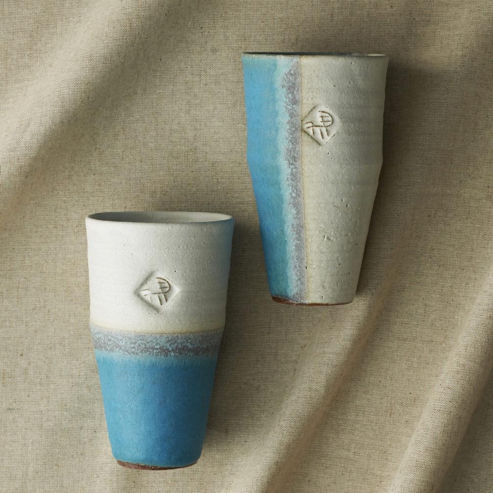 WHITE & BLUE(ホワイト& ブルー)ビアマグペア